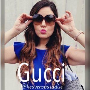 Gucci Square Sunglasses Gg0506s 007 Brown Gradient